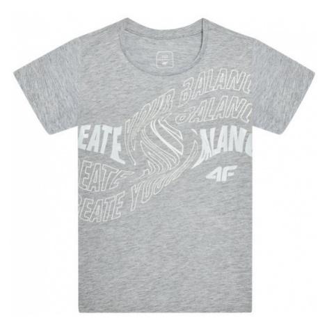 4F T-Shirt HJL21-JTSD001A Szary Regular Fit