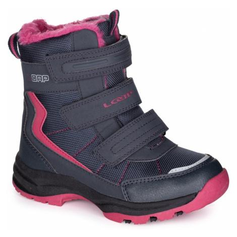 Czarne dziewczęce buty zimowe LOAP