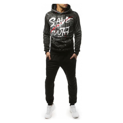 Gray and black men's tracksuit AX0126 DStreet