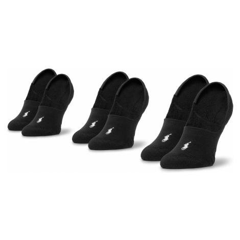 Zestaw 3 par stopek męskich POLO RALPH LAUREN - 455747505001 Black/White