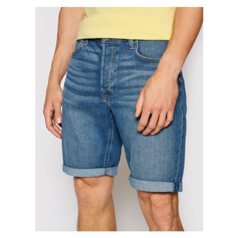 Lee Szorty jeansowe 5 Pocket L73EMGTP Niebieski Regular Fit