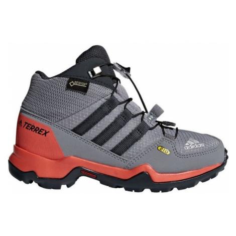 adidas TERREX MID GTX K szary 28 - Obuwie trekkingowe dziecięce