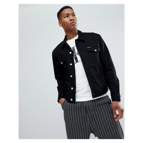 Calvin Klein Jeans stretch denim jacket with logo back patch