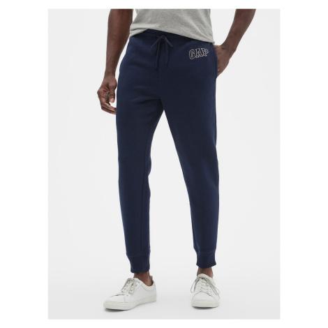 GAP niebieskie męskie spodnie dresowe z logiem