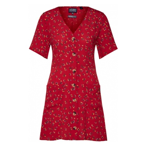 Superdry Sukienka czerwony