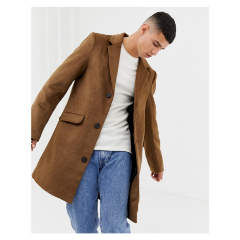 Another Influence Wool Blend Overcoat
