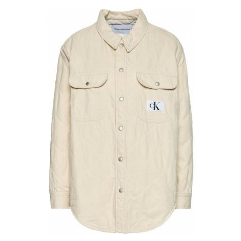 Calvin Klein Jeans Kurtka przejściowa J20J215386 Beżowy Regular Fit