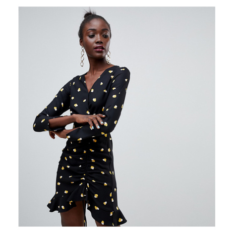River Island heart print tea dress in black