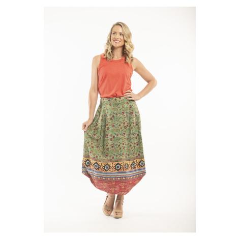 Orientique zielona długa spódnica Kea
