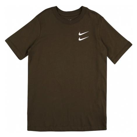 Nike Sportswear Koszulka oliwkowy / biały