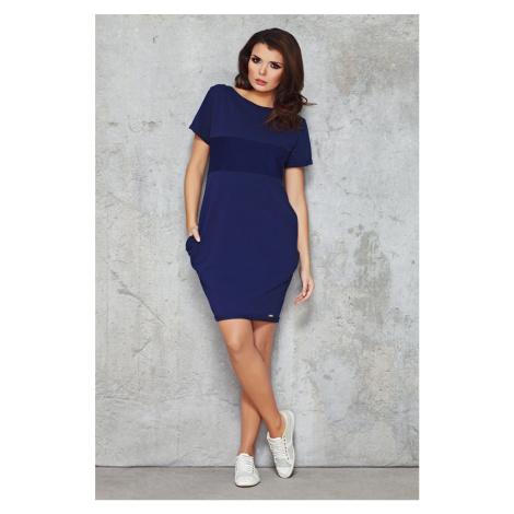 Infinite You Woman's Dress M043 Navy Blue