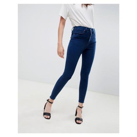 ASOS DESIGN 'Sculpt me' high waisted premium jeans in flat blue
