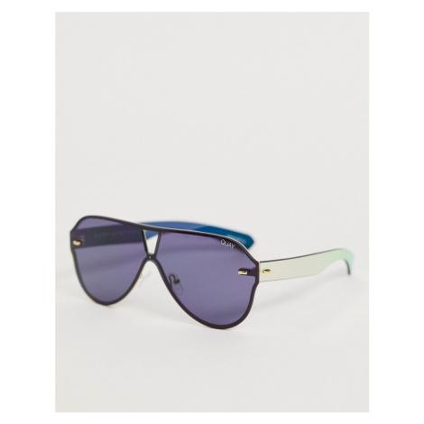 Quay Australia Stay Afloat aviator sunglasses in black