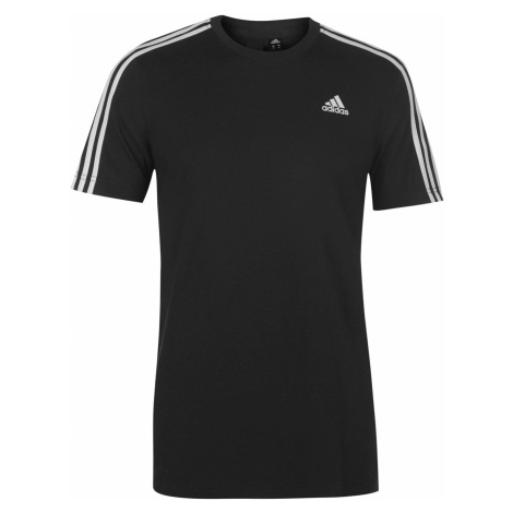 Adidas Essentials 3 Stripe T Shirt Mens