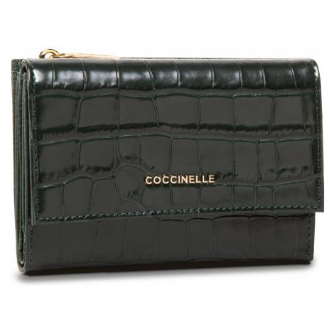 Duży Portfel Damski COCCINELLE - GW6 Metallic Croco Shiny Soft E2 GW6 11 66 01 Mallard Green G31