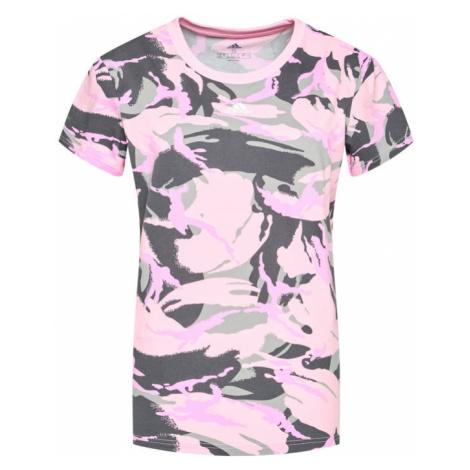 Adidas T-Shirt Essentials Boyfriend Camouflage GL7587 Różowy Boyfriend Fit