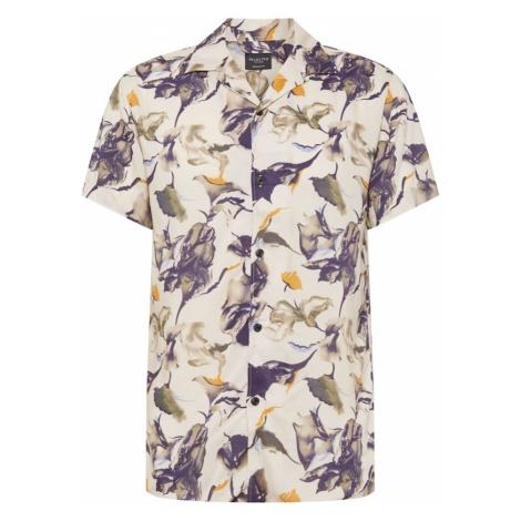 SELECTED HOMME Koszula beżowy / niebieski