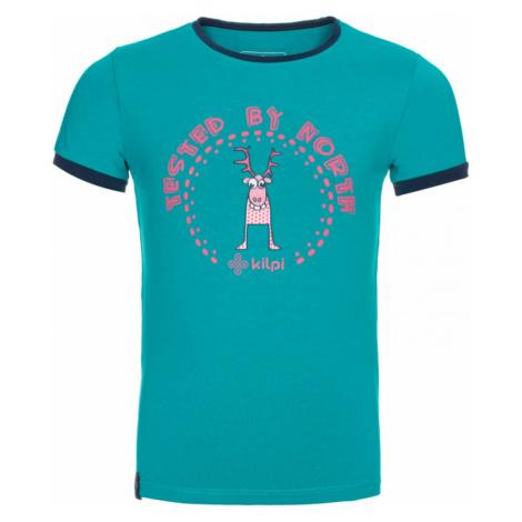 Dziewczyna bawełniana koszulka Mercy-jg turkus - Kilpi