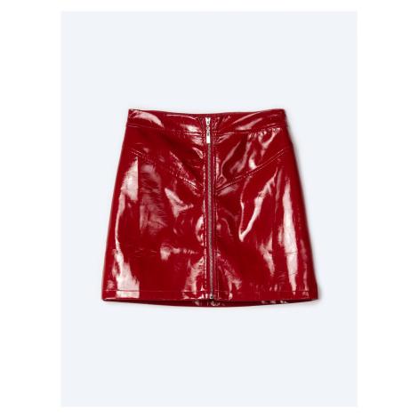 GATE Spódnica mini z winylowym efektem