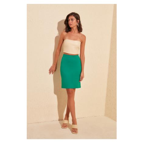 Trendyol DuckHead Green Knitted Pen Skirt