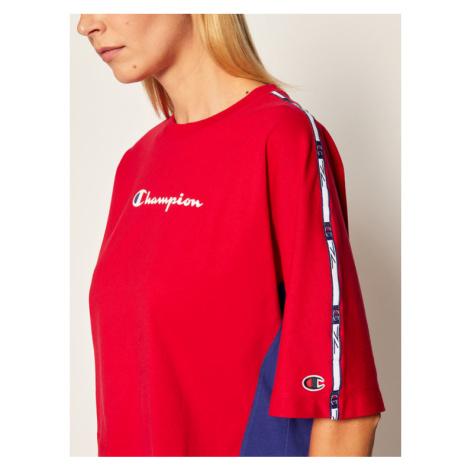 Champion T-Shirt Logo 113345 Czerwony Oversize