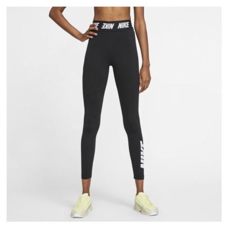 Damskie legginsy z wysokim stanem Nike Sportswear Club - Czerń