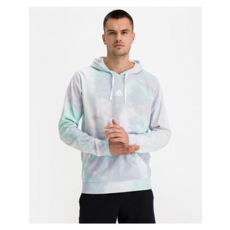 adidas Performance Essentials Tie-Dyed Inspirational Bluza Zielony Biały Fioletowy