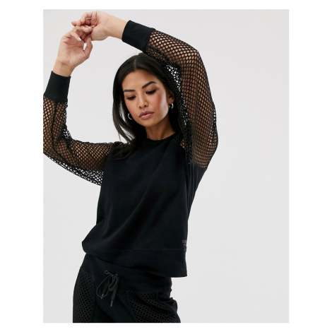 DKNY raglan sweatshirt mesh sleeves co-ord