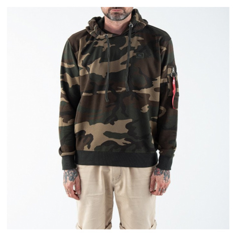 Bluza męska Alpha Industries X-Fit Hoody Camo 158321C 408