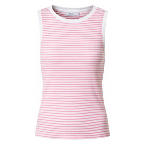 EDC BY ESPRIT Top 'Stripe Rib Tank T-Shirts sleeveless' różowy