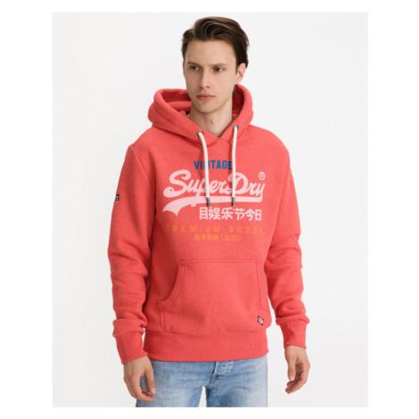 SuperDry VL Tri Bluza Czerwony