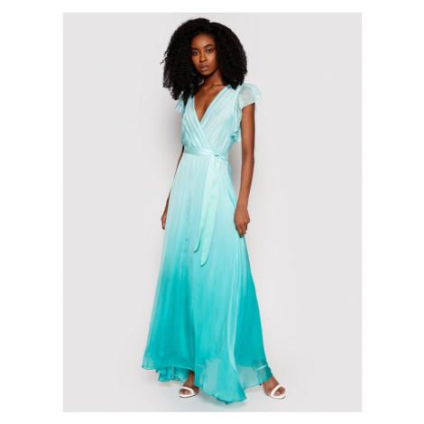 Guess Sukienka wieczorowa W1GK0Q WDXX0 Zielony Regular Fit