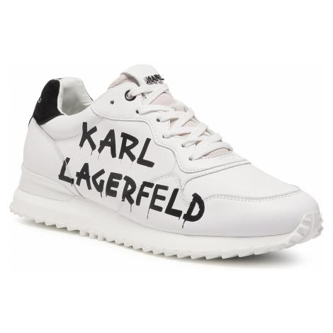 Sneakersy KARL LAGERFELD - KL52915 White Lthr W/Black