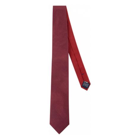 Tommy Hilfiger Tailored Krawat Silk Micro Design TT0TT06481 Bordowy