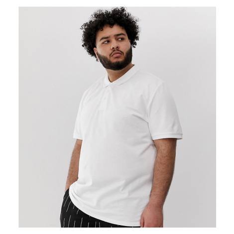 Only & Sons pique polo in white