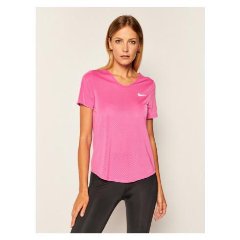NIKE Koszulka techniczna Breathe CJ2568 Różowy Standard Fit