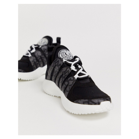 DKNY Lynzie lace up trainer with mono logo