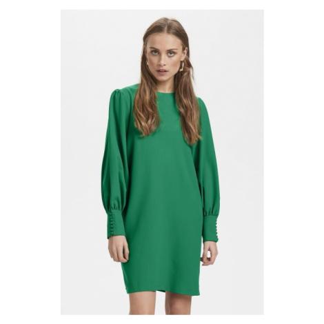 Ichi zielona sukienka Ihbelinda DR na długi rękaw