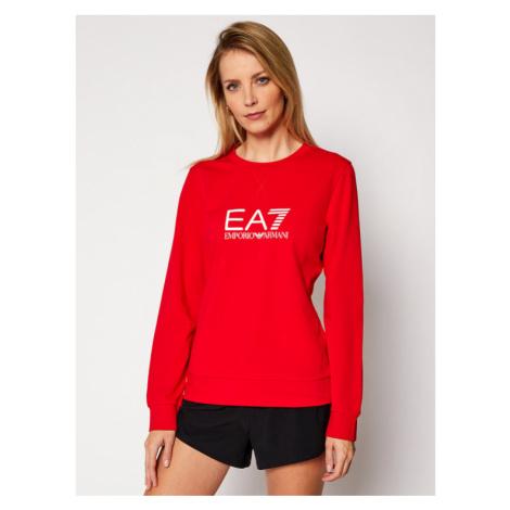 EA7 Emporio Armani Bluza 8NTM39 TJ31Z 1451 Czerwony Regular Fit