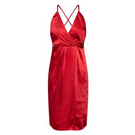 VILA Sukienka 'VISETIA DRESS/DC' czerwony