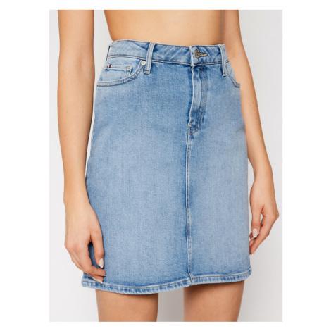 Tommy Hilfiger Spódnica jeansowa Rome Hw WW0WW30818 Niebieski Slim Fit