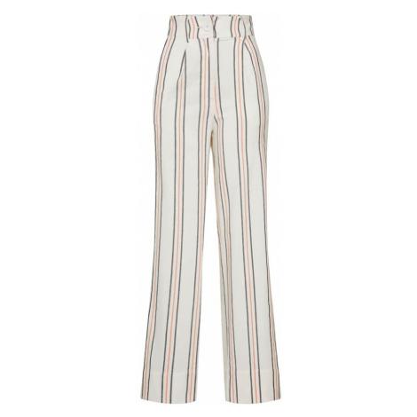 EDITED Spodnie 'Lilo' kremowy / czerwony / czarny
