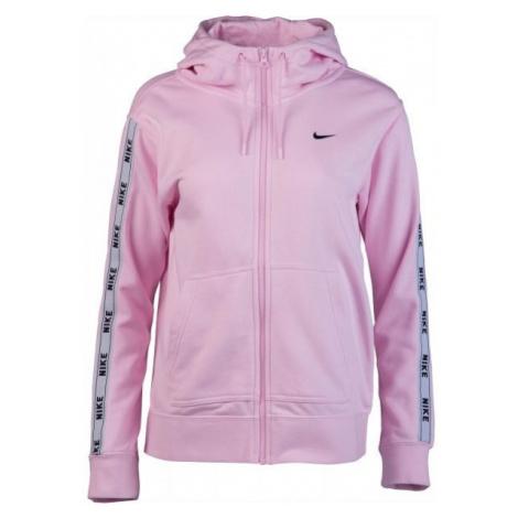Nike NSW HOODIE FZ LOGO TAPE różowy L - Bluza z kapturem damska