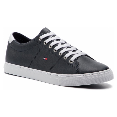 Sneakersy TOMMY HILFIGER - Essential Leather Sneaker FM0FM02203 Midnight 403