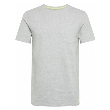 TOM TAILOR DENIM Koszulka 'structured T-shirt' szary
