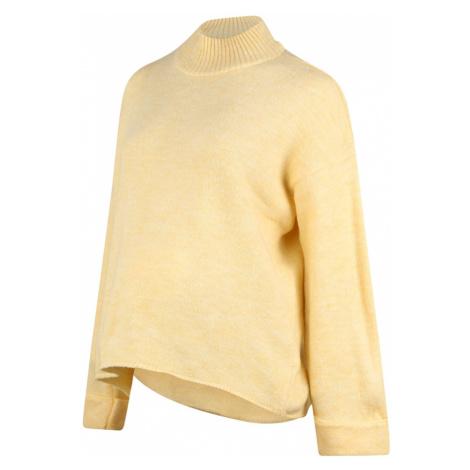 MAMALICIOUS Sweter pastelowo-żółty Mama Licious