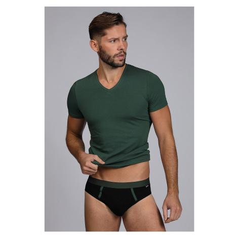 Męski KOMPLET: slipy i T-shirt Raw Man zielone Cotonella
