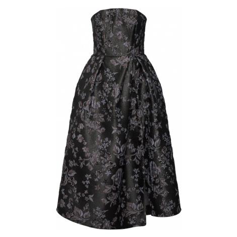 Closet London Suknia wieczorowa 'Closet Gold Strapless Dress' ciemnoszary