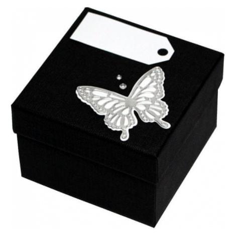 Giftisimo Luksusowy pudełko z Srebrny m motyl