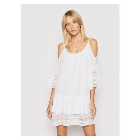 Guess Sukienka letnia Dalila W0GK1F WCUZ0 Biały Oversize
